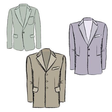 double breasted: Hombre de negocios s chaqueta de la manera Vector trajes cruzados