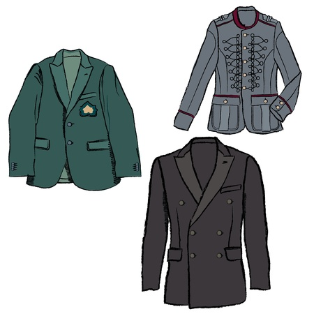 dressy: Man s fashion jacket  Vector business double-breasted suits