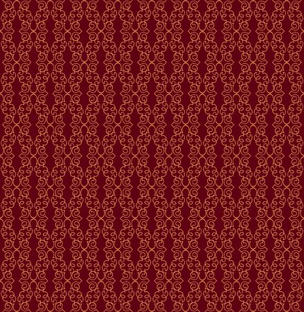 Floral pattern seamless  Vignette vector motif on chocolate background  Vector