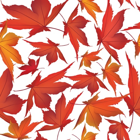 autumn maple leaves seamless pattern background Vector