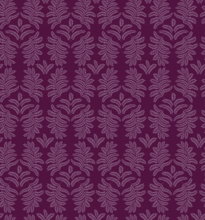 leaves seamless pattern on purple background Stock Vector - 16423988
