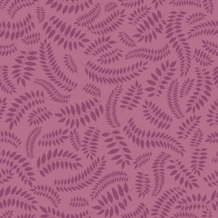 autumn leaves seamless pattern on violet background Vector