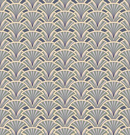 Floral pattern seamless  Fan vector motif on white background   Vector