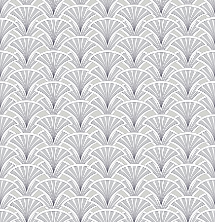 fantail: Floral pattern seamless  Fan vector motif on white background