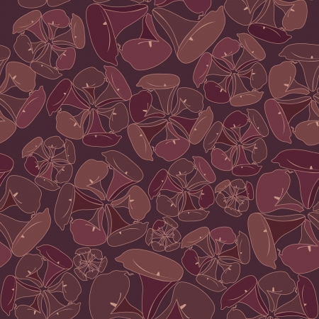 Floral seamless pattern  Flower cal vector motif on brown background  Vector
