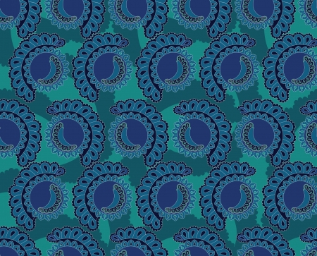 sweet seamless pattern with lacy segments on turquoise background  Vector