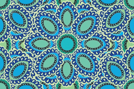 motif floral: Floral pattern seamless  Indian ornament  Mandala ethnic pattern