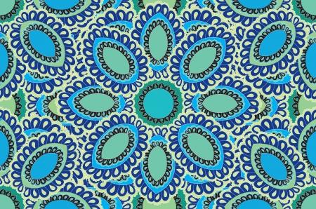 floral pattern motif: Floral pattern seamless  Indian ornament  Mandala ethnic pattern
