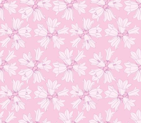 marriage bed: seamless pattern background with white pink flowers
