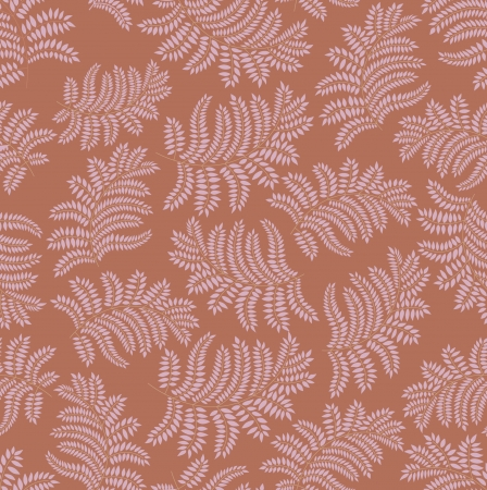 leaves seamless pattern on gray brown background  Stock Vector - 16473100
