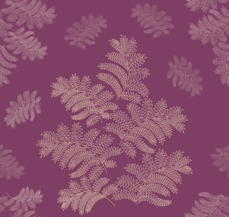leaves seamless pattern on violet background  Stock Vector - 16473104