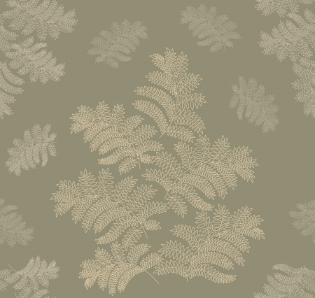 leaves seamless pattern on green background Stock Vector - 16473102