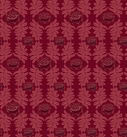 fantail: leaves seamless pattern on purple background