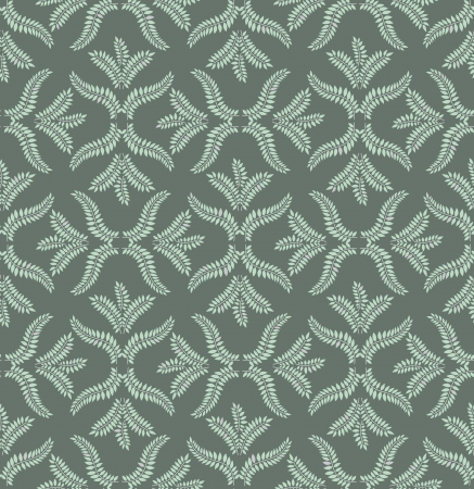 fantail: Floral pattern seamless  Flourish  motif on grey background  Illustration