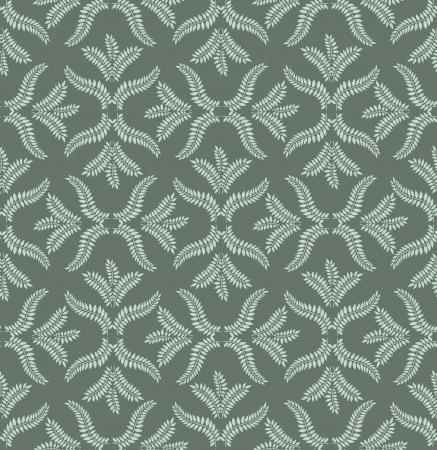 fantail: Floral pattern seamless  Flourish  motif on grey background  Illustration