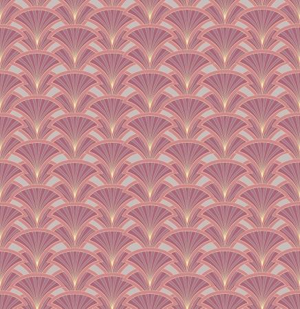 Floral pattern seamless  Fan  motif on beige background  Vector