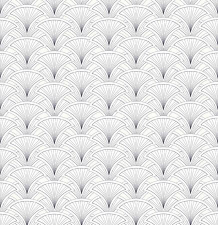 fantail: Floral pattern seamless  Fan  motif on white background   Illustration