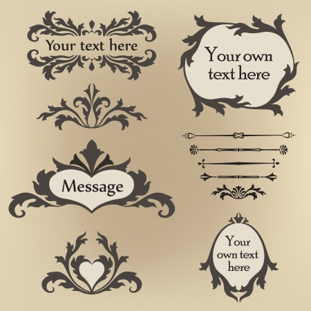 Calligraphic retro elements and page decoration  Vintage  Design Ornaments  Vector