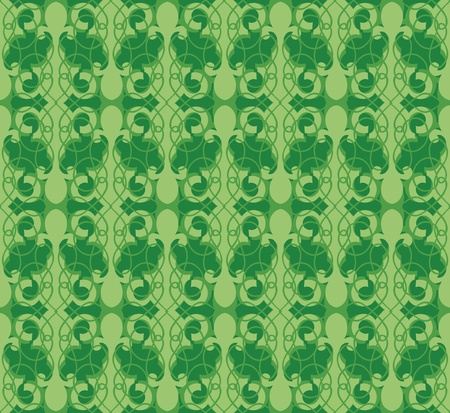 Floral pattern seamless  Flourish abstract green background Stock Vector - 16473065