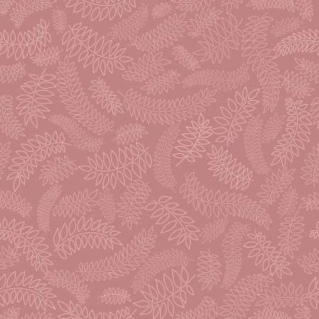 leaves seamless pattern on lilac background  Vector