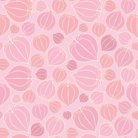 winter cherry: Floral pattern seamless  Winter cherry, floral motif on light pink background