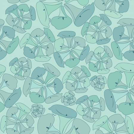 cal: floral seamless pattern with flowers cal on green background