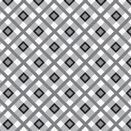 motton blue: Checkered cotton fabric seamless pattern Illustration