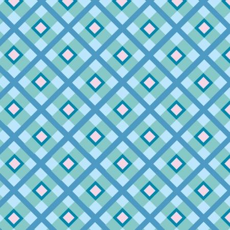 motton: Checkered cotton fabric seamless pattern Illustration