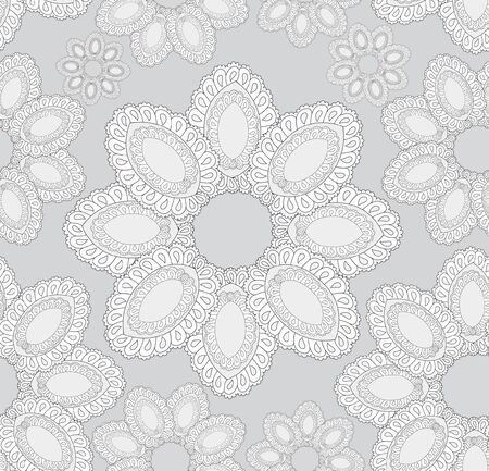 Floral pattern seamless  Flower  motif on light gray background  Vector