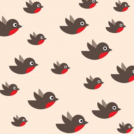 brisk: robin pattern  bird background