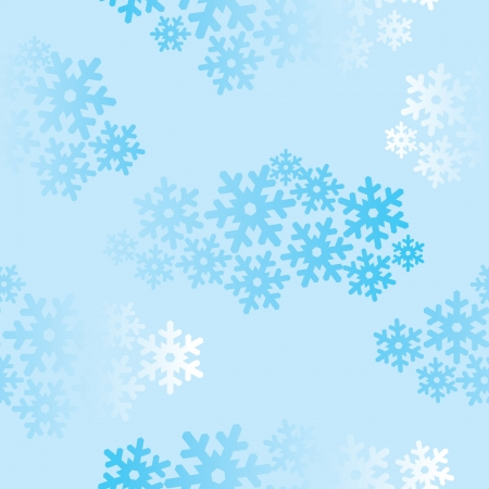 Snowflakes seamless pattern, snow background Stock Vector - 16473014