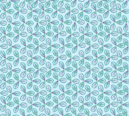 Floral pattern seamless  Flourish ornamental blue background  Vector