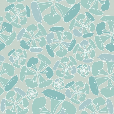 floral seamless pattern with flowers silhouette on green background  Vector