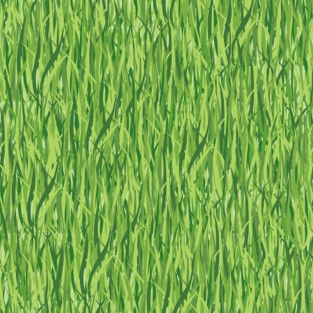 grass seamless floral vector pattern background Stock Vector - 16510166