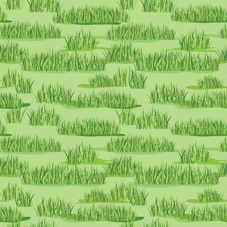 lawn mowing: grass seamless floral pattern background
