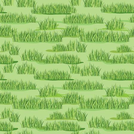 grass plot: grass seamless floral pattern background