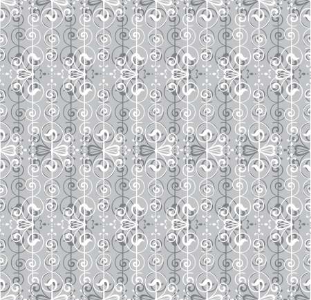 Floral Pattern Seamless on gray background  Vector