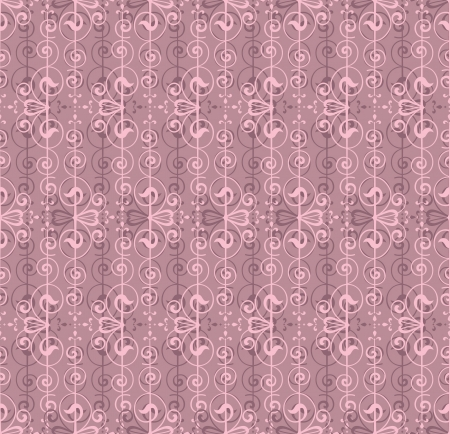 Floral Pattern Seamless on pink background  Vector
