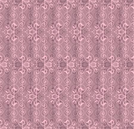 Patr�n floral sin fisuras en el fondo rosado
