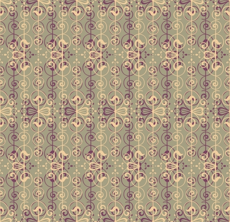 Floral Pattern Seamless on light green background  Vector