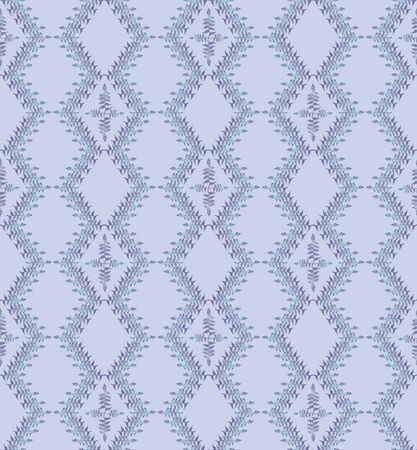 fantail: seamless pattern from floral motif ornament, gentle lines on white background Illustration