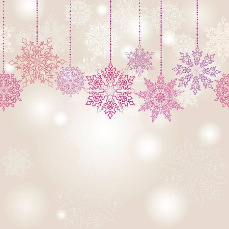 Snowflakes seamless garland  Christmas decoration  Snow background   Stock Vector - 16875610