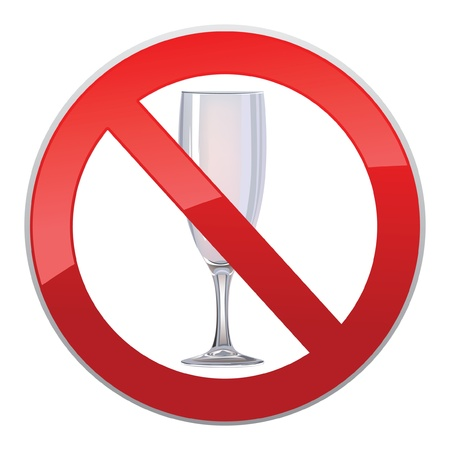 no alcohol sign Stock Vector - 16875546