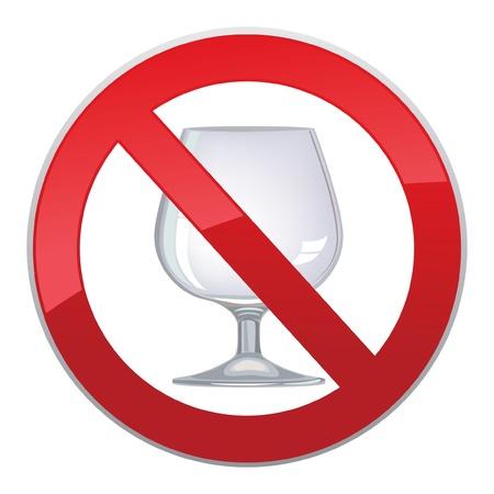 alcoholism: no alcohol sign