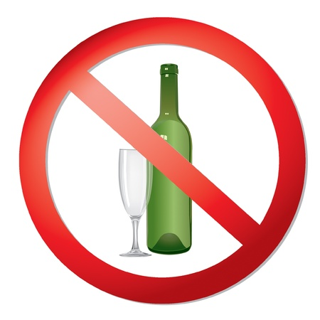 ban: no alcohol sign