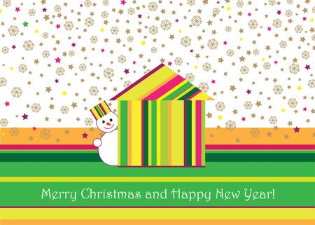 Christmas and New Year greeting card  vector background Stock Vector - 16875556