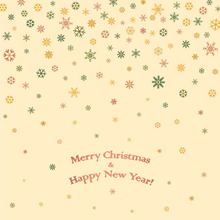 Christmas and New Year greeting card  vector background Vector