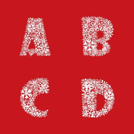 Alphabet Set  Christmas and New Year ABC letters