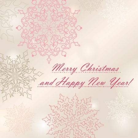 Christmas and New Year greeting card  vector background Stock Vector - 16875564