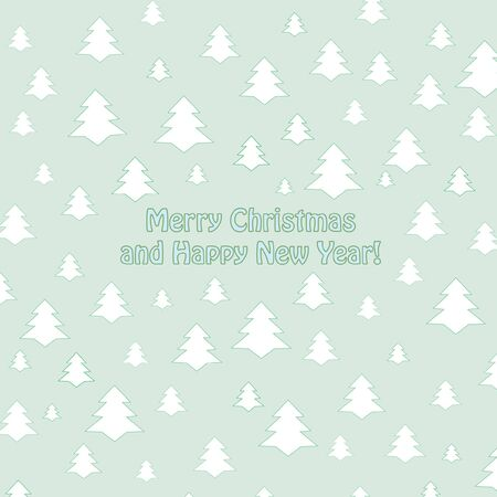 Christmas and New Year greeting card  vector background Stock Vector - 16875545